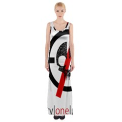 Twenty One Pilots Skull Maxi Thigh Split Dress