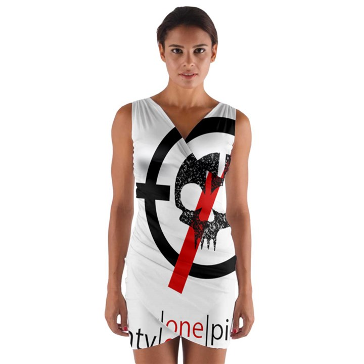 Twenty One Pilots Skull Wrap Front Bodycon Dress