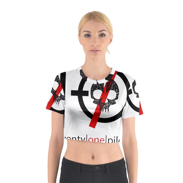 Twenty One Pilots Skull Cotton Crop Top