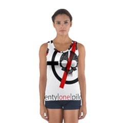 Twenty One Pilots Skull Women s Sport Tank Top
