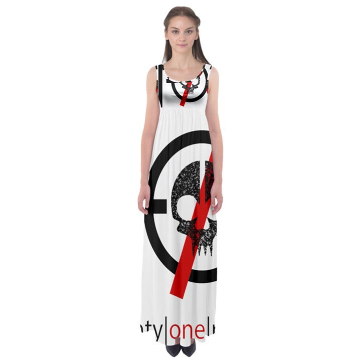 Twenty One Pilots Skull Empire Waist Maxi Dress