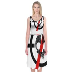 Twenty One Pilots Skull Midi Sleeveless Dress