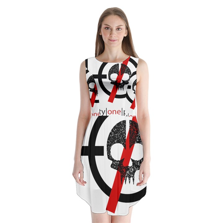 Twenty One Pilots Skull Sleeveless Chiffon Dress