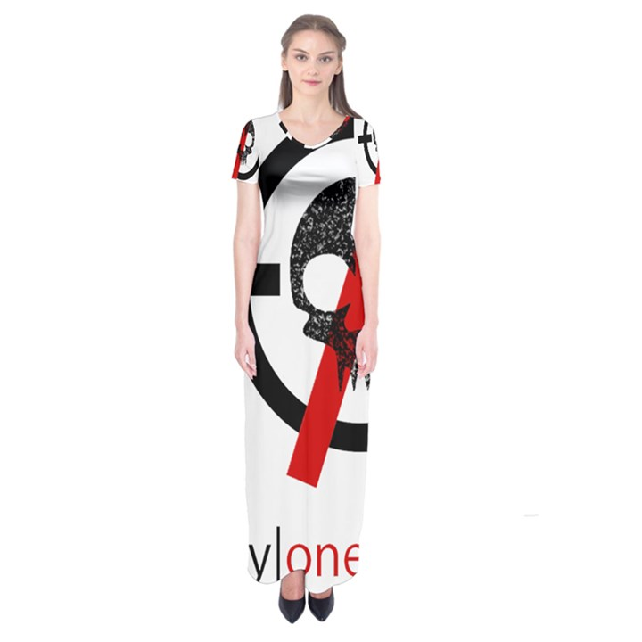 Twenty One Pilots Skull Short Sleeve Maxi Dress