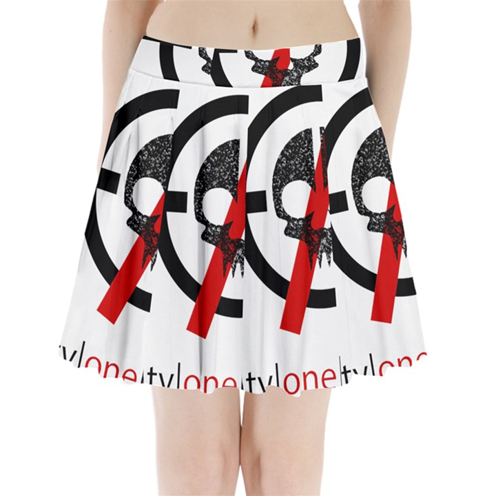 Twenty One Pilots Skull Pleated Mini Skirt