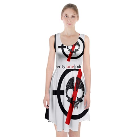 Twenty One Pilots Skull Racerback Midi Dress
