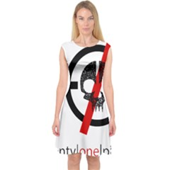 Twenty One Pilots Skull Capsleeve Midi Dress