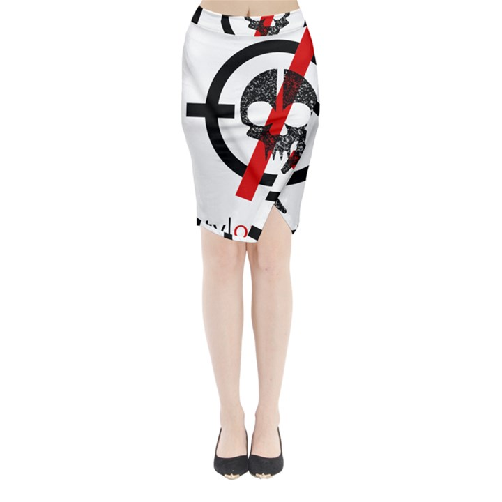 Twenty One Pilots Skull Midi Wrap Pencil Skirt