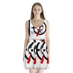 Twenty One Pilots Skull Split Back Mini Dress