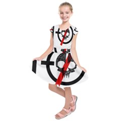 Twenty One Pilots Skull Kids  Short Sleeve Dress