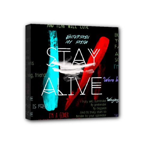 Twenty One Pilots Stay Alive Song Lyrics Quotes Mini Canvas 4  X 4
