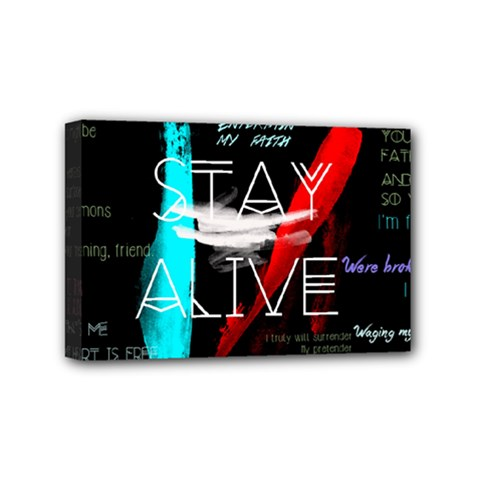 Twenty One Pilots Stay Alive Song Lyrics Quotes Mini Canvas 6  X 4