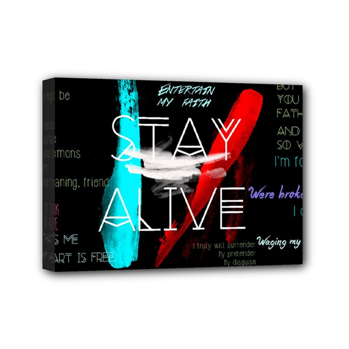 Twenty One Pilots Stay Alive Song Lyrics Quotes Mini Canvas 7  x 5