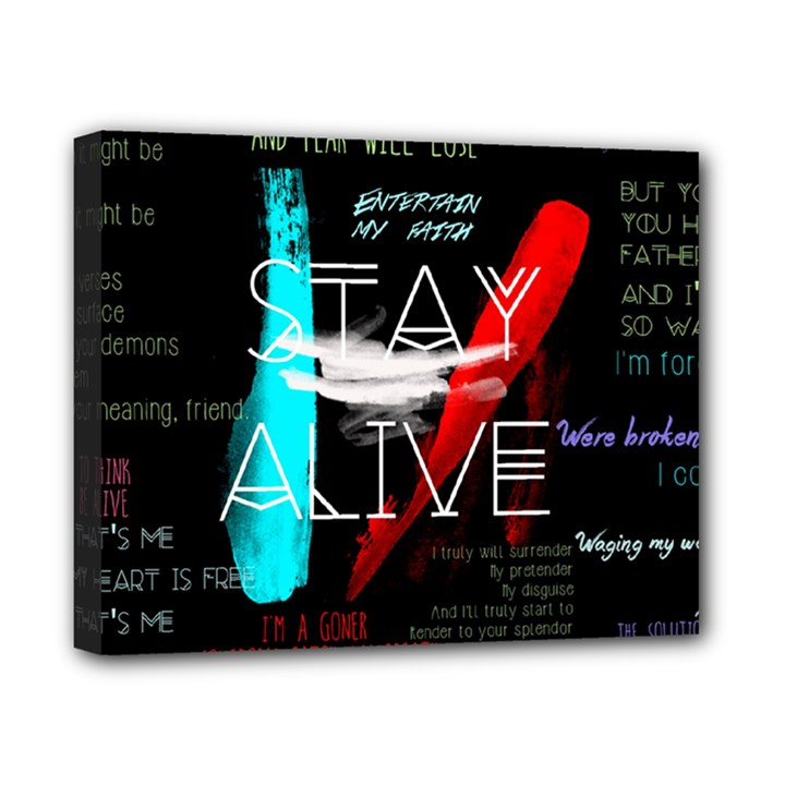 Twenty One Pilots Stay Alive Song Lyrics Quotes Canvas 10  x 8