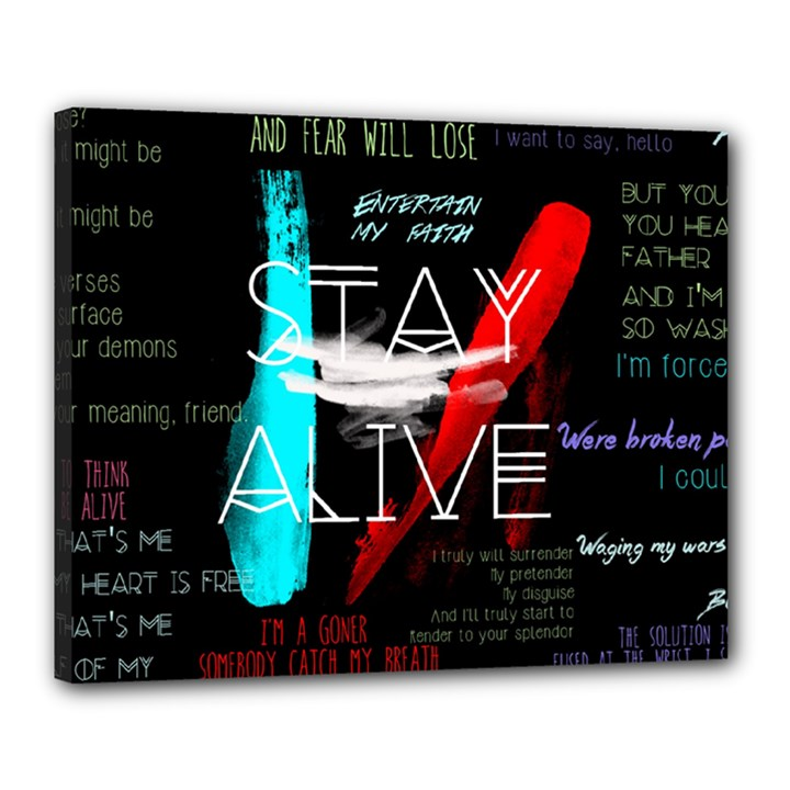 Twenty One Pilots Stay Alive Song Lyrics Quotes Canvas 20  x 16
