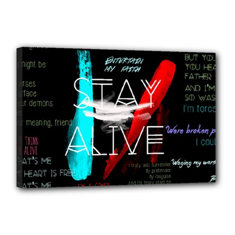 Twenty One Pilots Stay Alive Song Lyrics Quotes Canvas 18  X 12