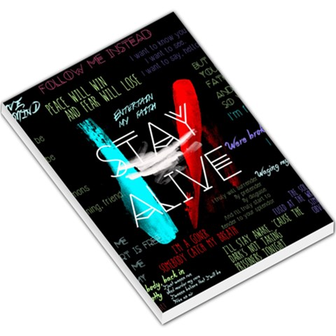 Twenty One Pilots Stay Alive Song Lyrics Quotes Large Memo Pads