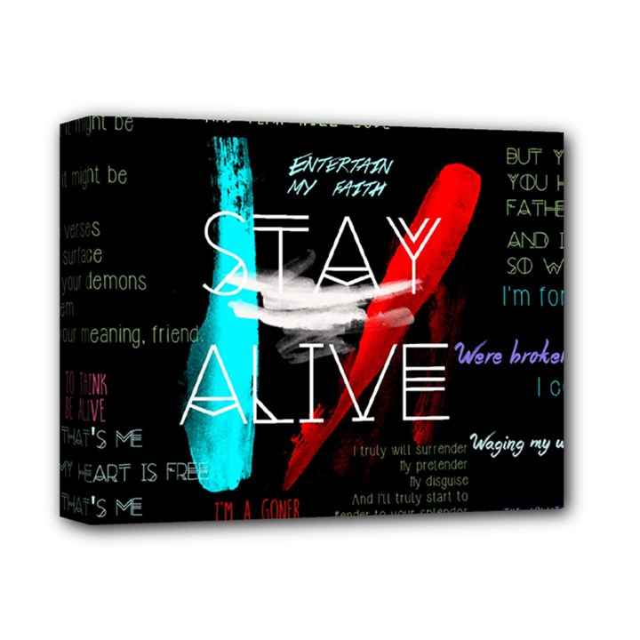 Twenty One Pilots Stay Alive Song Lyrics Quotes Deluxe Canvas 14  x 11