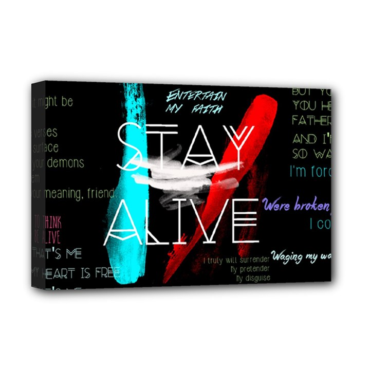 Twenty One Pilots Stay Alive Song Lyrics Quotes Deluxe Canvas 18  x 12