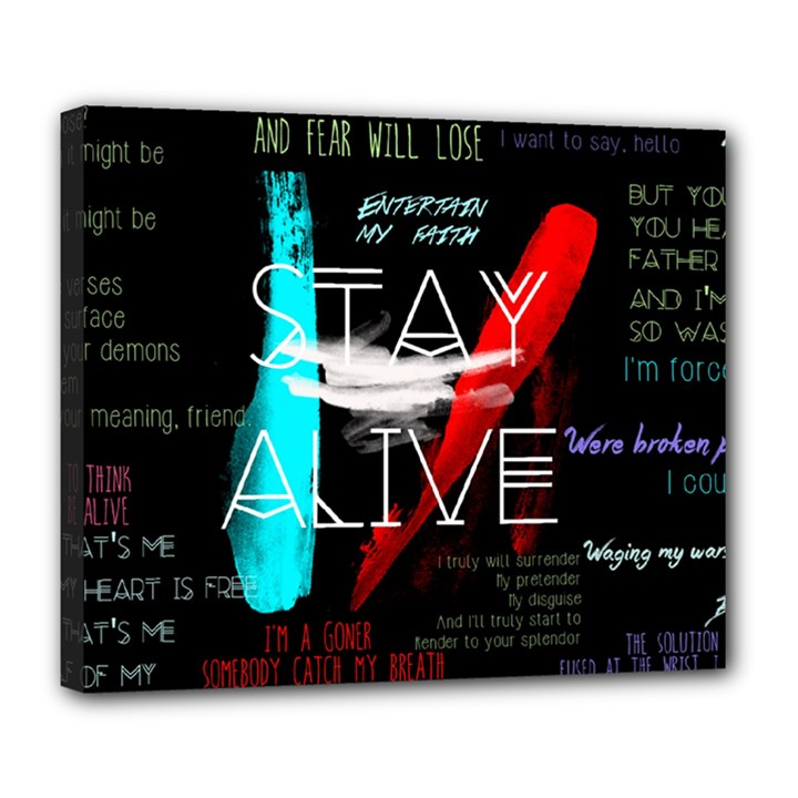 Twenty One Pilots Stay Alive Song Lyrics Quotes Deluxe Canvas 24  x 20