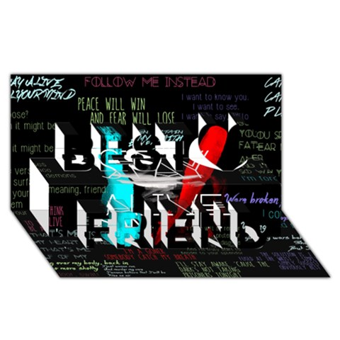 Twenty One Pilots Stay Alive Song Lyrics Quotes Best Friends 3D Greeting Card (8x4)