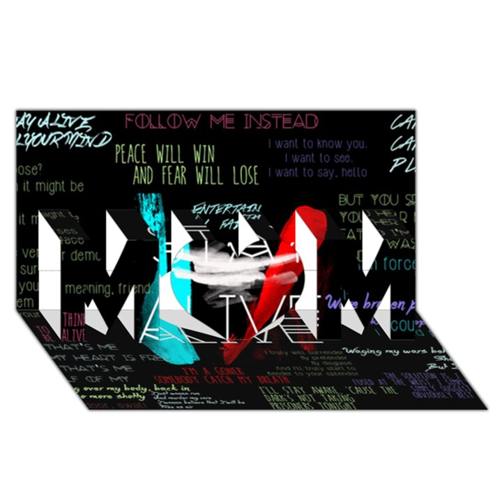 Twenty One Pilots Stay Alive Song Lyrics Quotes MOM 3D Greeting Card (8x4)