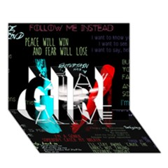 Twenty One Pilots Stay Alive Song Lyrics Quotes Girl 3d Greeting Card (7x5)
