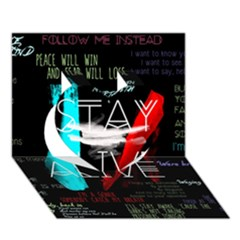 Twenty One Pilots Stay Alive Song Lyrics Quotes Heart 3D Greeting Card (7x5)