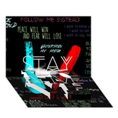 Twenty One Pilots Stay Alive Song Lyrics Quotes LOVE Bottom 3D Greeting Card (7x5)