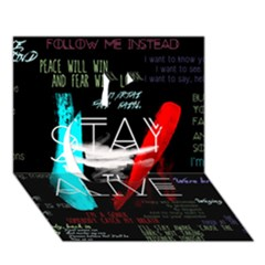 Twenty One Pilots Stay Alive Song Lyrics Quotes Apple 3D Greeting Card (7x5)