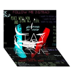 Twenty One Pilots Stay Alive Song Lyrics Quotes Clover 3D Greeting Card (7x5)