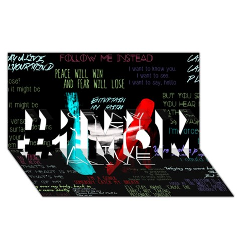 Twenty One Pilots Stay Alive Song Lyrics Quotes #1 MOM 3D Greeting Cards (8x4)