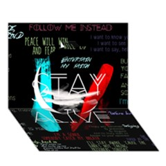 Twenty One Pilots Stay Alive Song Lyrics Quotes Circle 3d Greeting Card (7x5)