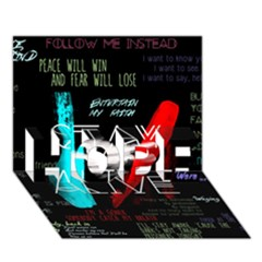 Twenty One Pilots Stay Alive Song Lyrics Quotes HOPE 3D Greeting Card (7x5)
