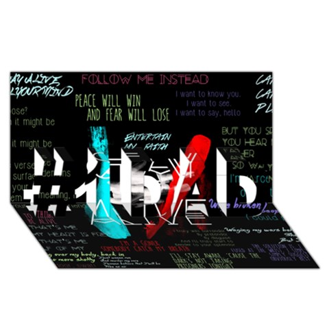 Twenty One Pilots Stay Alive Song Lyrics Quotes #1 DAD 3D Greeting Card (8x4)