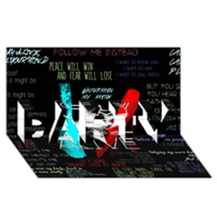 Twenty One Pilots Stay Alive Song Lyrics Quotes PARTY 3D Greeting Card (8x4)