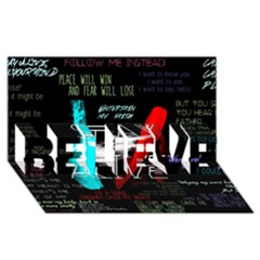 Twenty One Pilots Stay Alive Song Lyrics Quotes Believe 3d Greeting Card (8x4)