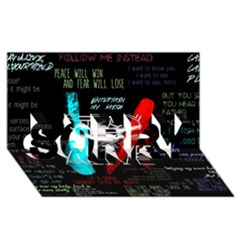 Twenty One Pilots Stay Alive Song Lyrics Quotes Sorry 3d Greeting Card (8x4)