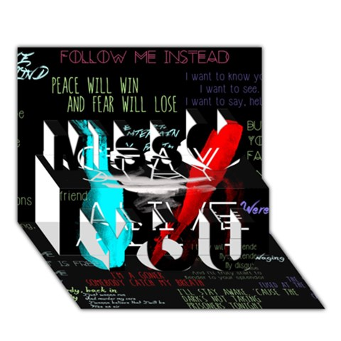 Twenty One Pilots Stay Alive Song Lyrics Quotes Miss You 3D Greeting Card (7x5)