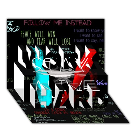 Twenty One Pilots Stay Alive Song Lyrics Quotes WORK HARD 3D Greeting Card (7x5)
