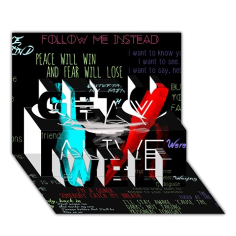 Twenty One Pilots Stay Alive Song Lyrics Quotes Get Well 3D Greeting Card (7x5)