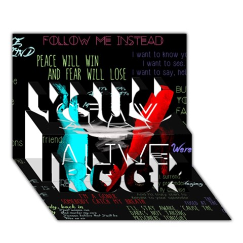 Twenty One Pilots Stay Alive Song Lyrics Quotes You Rock 3D Greeting Card (7x5)