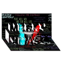 Twenty One Pilots Stay Alive Song Lyrics Quotes Merry Xmas 3D Greeting Card (8x4)