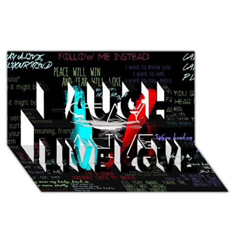 Twenty One Pilots Stay Alive Song Lyrics Quotes Laugh Live Love 3D Greeting Card (8x4)