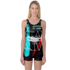 Twenty One Pilots Stay Alive Song Lyrics Quotes One Piece Boyleg Swimsuit