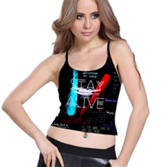 Twenty One Pilots Stay Alive Song Lyrics Quotes Spaghetti Strap Bra Top