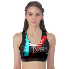 Twenty One Pilots Stay Alive Song Lyrics Quotes Sports Bra