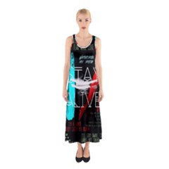 Twenty One Pilots Stay Alive Song Lyrics Quotes Sleeveless Maxi Dress