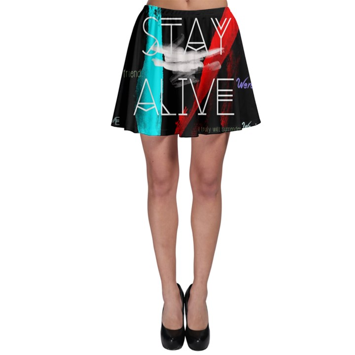 Twenty One Pilots Stay Alive Song Lyrics Quotes Skater Skirt