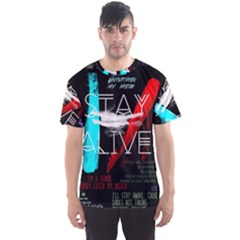 Twenty One Pilots Stay Alive Song Lyrics Quotes Men s Sport Mesh Tee